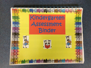 Binders holding all my kindergarten data in one place