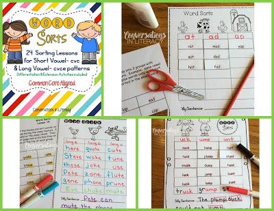 Short and Long Vowel Word Sort Activities