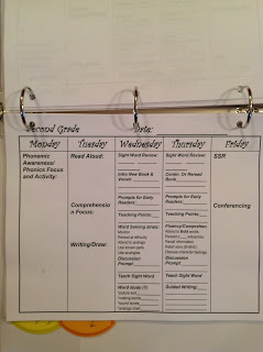 Second Grade lesson plan template