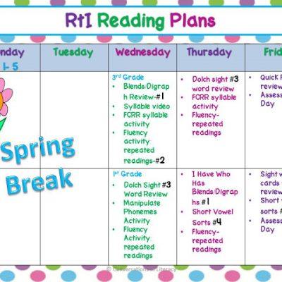 Peek At My Week- RTI & Reading Groups