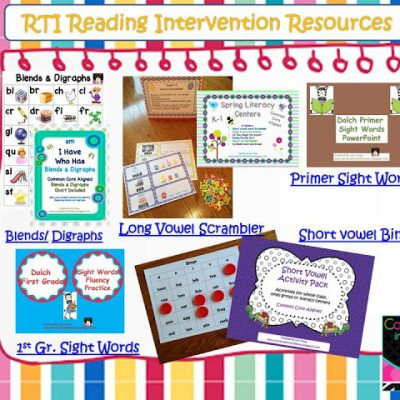 RTI Intervention Lesson Plans