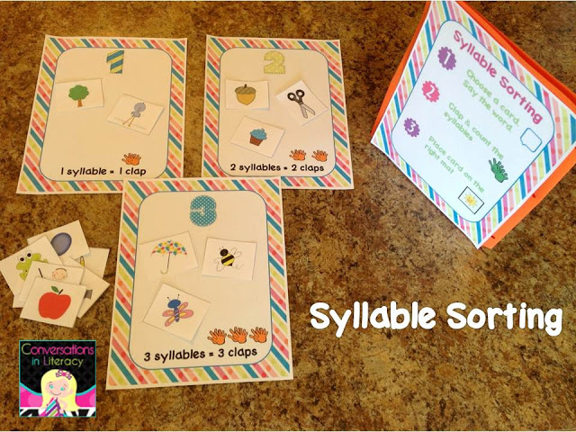 Syllable Counting Literacy Center