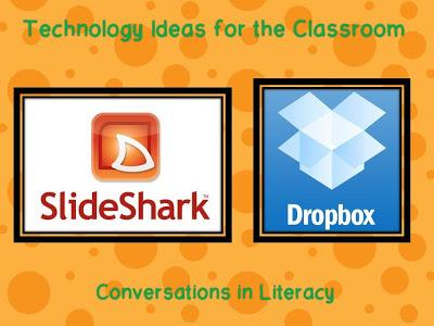 Slideshark app and Dropbox app