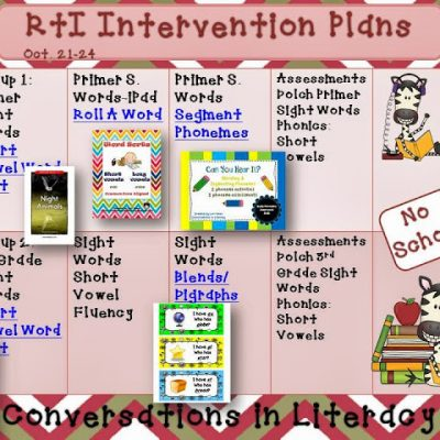 RtI Intervention Plans & iPad app