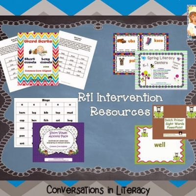RtI Intervention Plans & Strategy Freebie