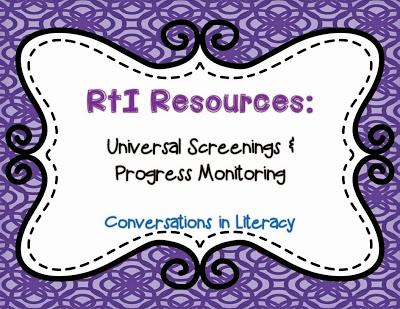 universal screenings and progress monitoring