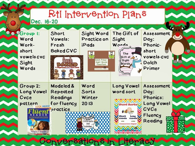 Santa Apps RtI Intervention Plans A Freebie