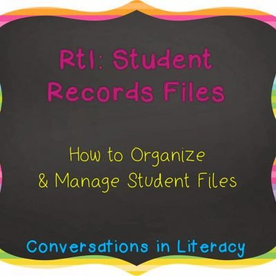 RtI Student Files- Little Black Boxes
