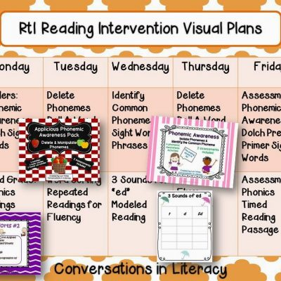 RtI Reading Intervention Plans & Freebie