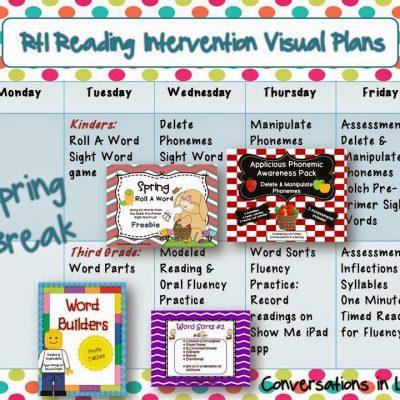 RtI Visual Plans & Short Vowels