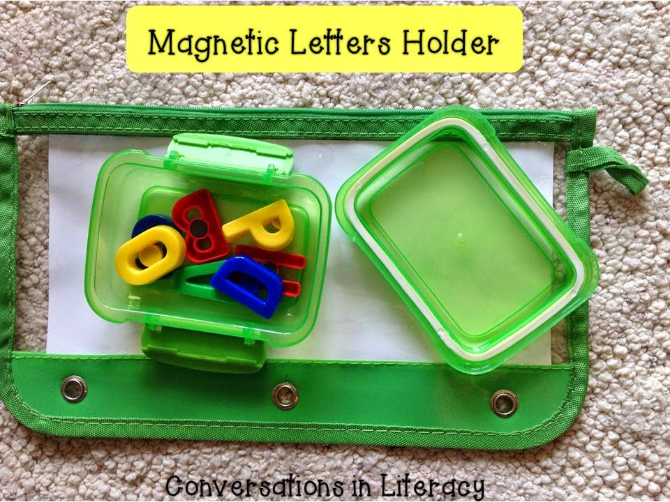 Magnetic letters kept in plastic boxes