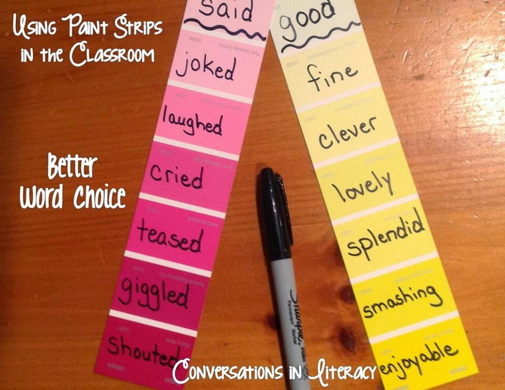 using paint strips for better word choice