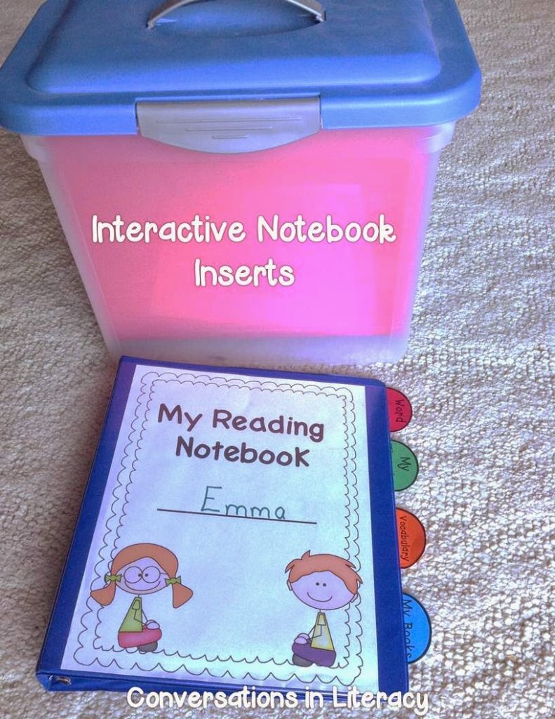 How to organize and manage interactive notebook materials