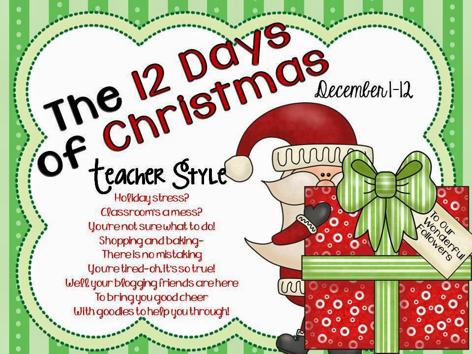 saying thank you with 12 days of Christmas
