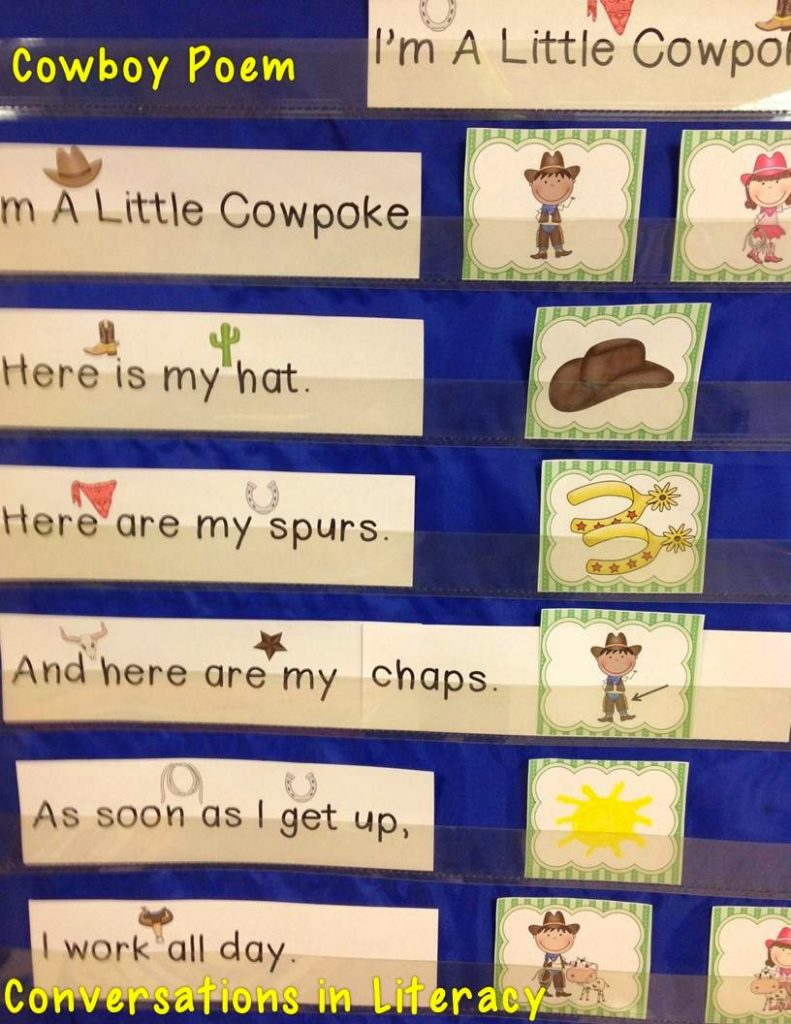 Cowboy poems and activities
