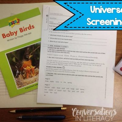 Universal Screenings & RTI Plans