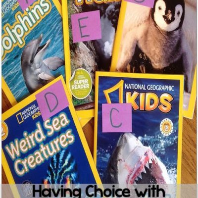 Giving Choices with Informational Text & A Freebie!