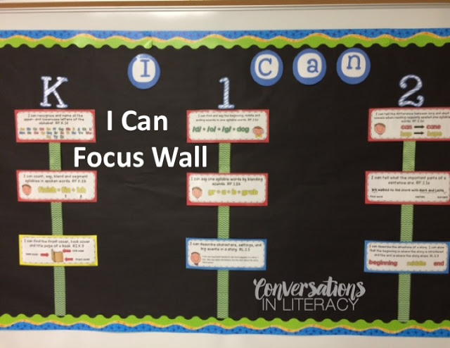 I Can Statements Focus Wall