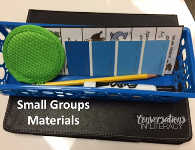 Small Group Materials Baskets