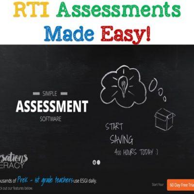 RTI & ESGI:  Assessments Made Easy