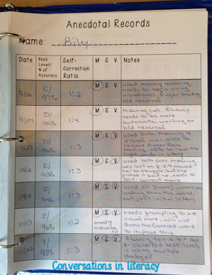anecdotal records notebooks to help you organize student learning