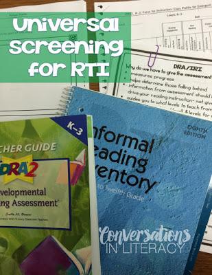 DRA and IRI for Universal Screenings in RTI