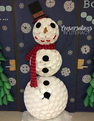 Styrofoam Snowman & RTI Binders