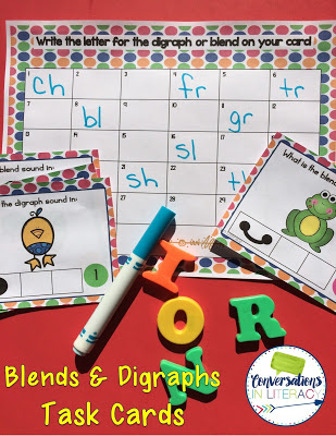 activities for hearing blends and digraphs