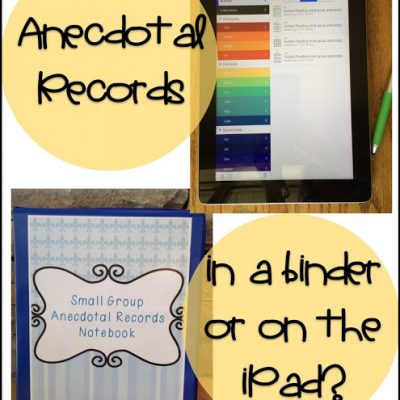 Guided Reading:  Anecdotal Records