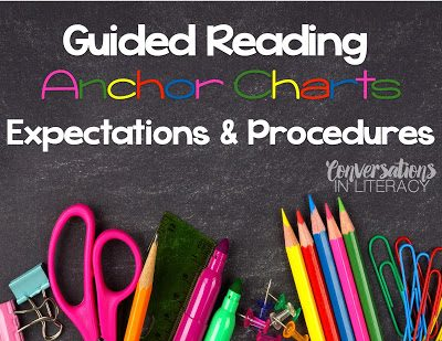 Guided Reading:  Ways to Create Anchor Charts