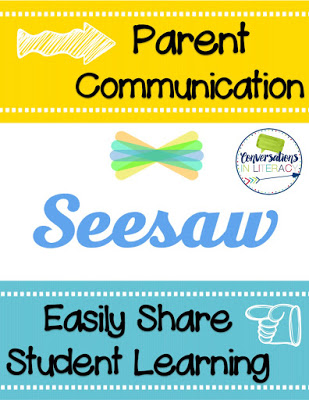 Using Seesaw app to share student learning with parents