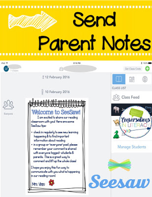 Parents want to see what is happening with their child's learning and Seesaw is the easiest way I have found to make that happen!