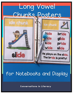 Long Vowel Posters and activities