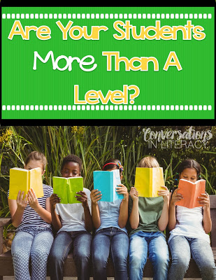 Students don't need to know their reading level.
