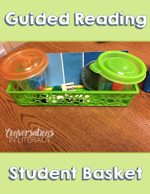 Organizing Word Work Materials with student baskets