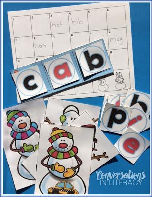 Snowman CVC word building