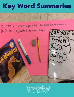 Using Key Words to Write a Summary