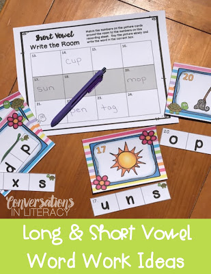 Long Vowel and Short Vowel Activities