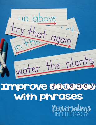 Building Fluency by scooping words into Phrases