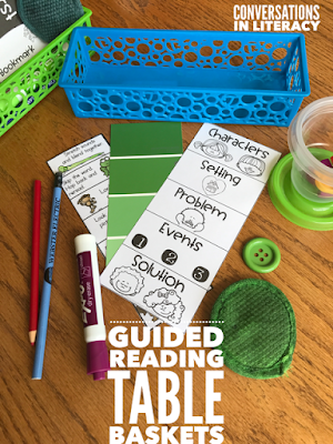 What to keep in Table Baskets for Guided Reading Tables