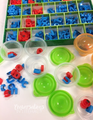 Keeping Magnetic Letters Organized for Word Work