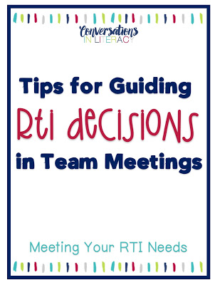 RTI Data and RTI Tips How to Manage RTI Meetings