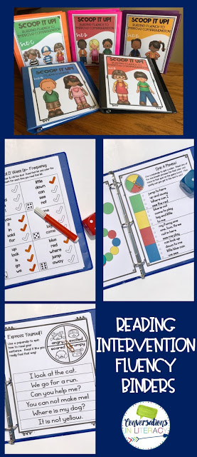 Fluency Activities Reading Intervention Binders