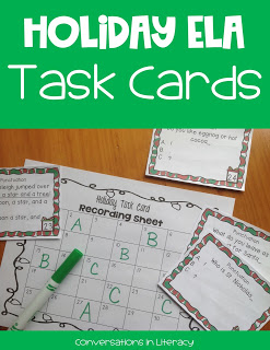 Fun Christmas activities for centers Holiday ELA Task Cards