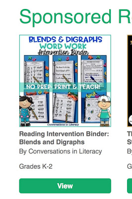 Reading Interventions Blends and Digraphs Binder