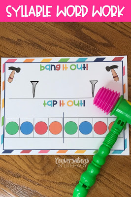 Clapping Out Syllables Activities for closed syllable words