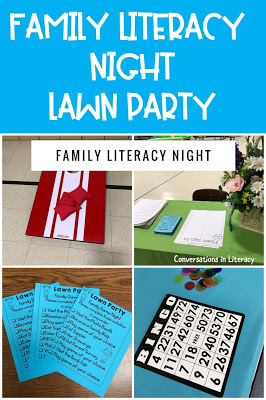 Family Literacy Night Ideas and Activities for Lawn Party