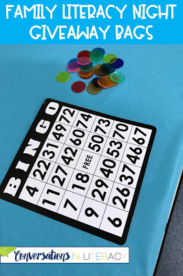 Family Literacy Night Ideas and Activities for Lawn Party, Bingo for Books