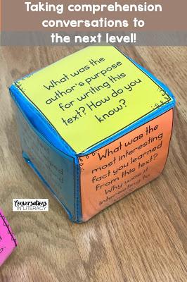 Reading Comprehension Questions for Deeper Conversations-Reading Comprehension Strategies and comprehension activities for guided reading and literacy center time!  #guidedreading #comprehension #classroom #elementary #conversationsinliteracy #readinginterventions #firstgrade #secondgrade #thirdgrade