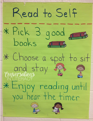 Building Reading Stamina for Read to Self Before Starting Guided Reading Small Groups! #guidedreading #readtoself #classroomorganization #backtoschool #anchorcharts kindergarten, first grade, second grade, third grade